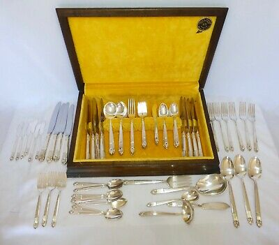 Vintage Mid Century ASTRID Silver Plate Flatware Complete Service for 12 & MORE!