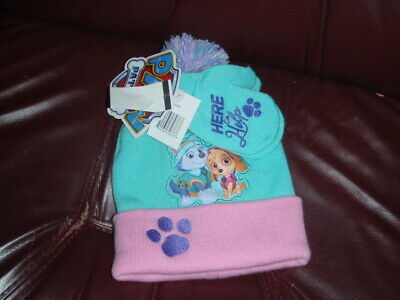 Nickelodeon Paw Patrol Hat and Mittens Cold Weather Set, Toddler Girls, Age 2-4