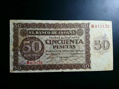 Billete 10 Pesetas 1935 Serie B Republica Usado 1 Pta Spain Banknote Used !