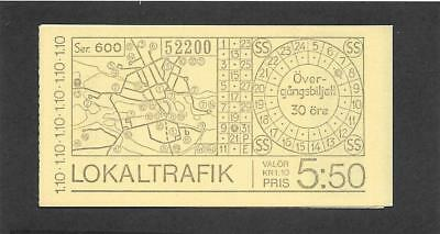 Sweden Postage, Booklet ( Scott # 1207a, Tourism) MNH. (*077)