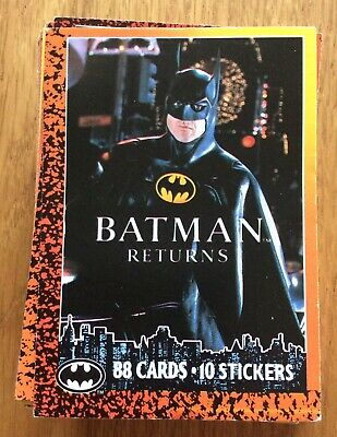 Topps Trading Cards Complete Set Of 88 Batman Cards + 10 Stickers