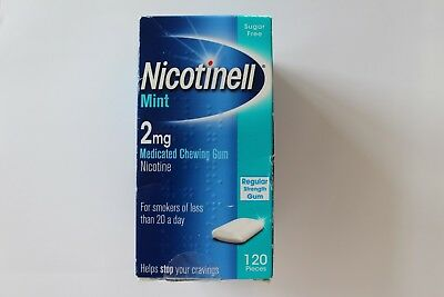 Nicotinell Mint 2mg Regular Strength Medicated Chewing Gum 120 Pieces 02/2019