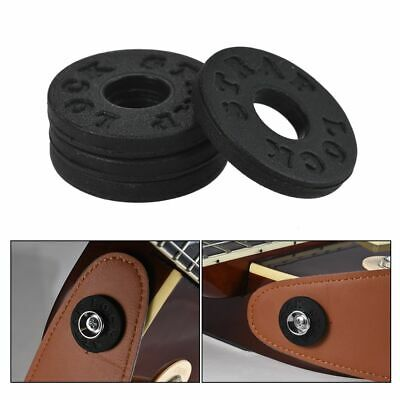Strap Locks Blacks Soft Rubber Material Bass Electric Guitar Parts Accessories
