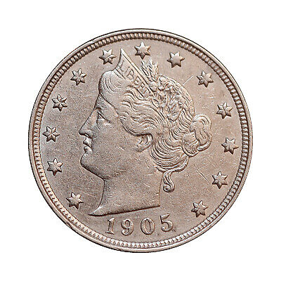 1905 Liberty Head V Nickel - AU / Almost Uncirculated