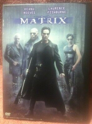 Matrix DVD 1999 Keanu Reeves Laurence Fishburne action thriller