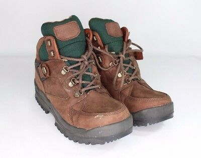 Vtg New Hi-Tec Mens 9.5 Alpine Suede Leather Hiking Trail Outdoor Boots Brown