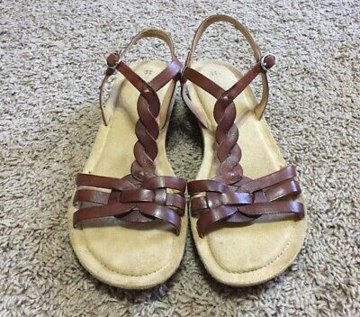 248d56d39f96 Women s Naturalizer N5 Comfort TEMMA Slingback Brown Leather Sandals Size 8  N
