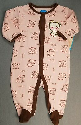 2ab6e7d37858 GAP 0-3 MONTH Baby Girl Pink   White Striped Velour Footed Sleep N ...