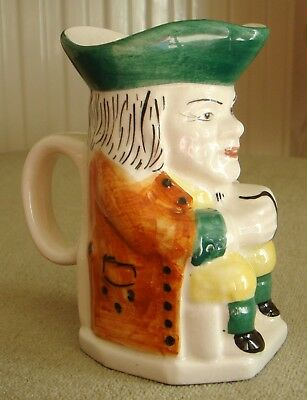 Vintage Toby Jug, Paramount Pottery, Hand Painted 4 ins tall