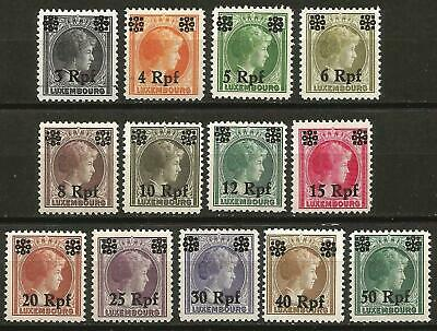 Germany Third Reich 1940 MH Luxembourg Part Set Mi 17-29 SG 413-425