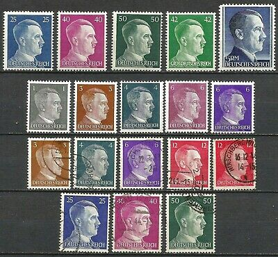 Germany Third Reich (1933-1945) MNH and used Hitler Definitives  #5