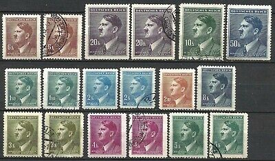 Germany Third Reich Bohemia (1939-1945) Mint and used Hitler Definitives  #8