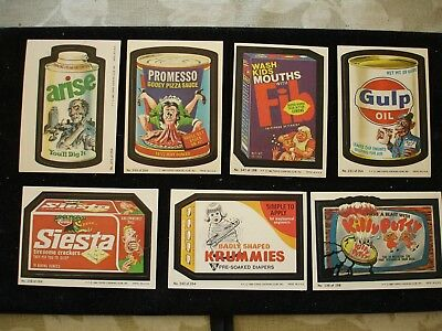 Vintage Wacky Packages Sticker Trading Card Set  - 32+ Stickers