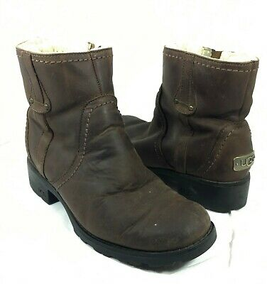 08c1a8bab05 UGG AUSTRALIA BLAKELY Ankle Boot Brown leather Sz 7