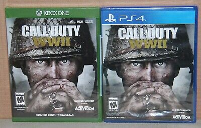 Call of Duty: WWII (Microsoft Xbox One OR Sony PlayStation 4, 2017) Brand New