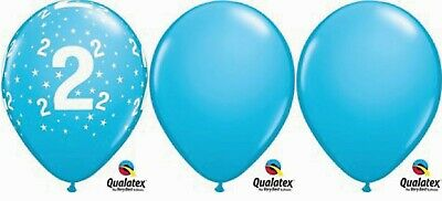 """15 x 11"""" 2nd Birthday Blue Latex Party pack table centre piece"""