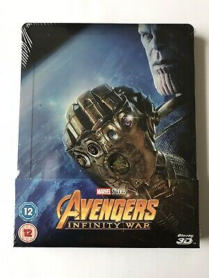 avengers infinity war 3-D And 2D Blu-ray steelbook Brand-New And Sealed