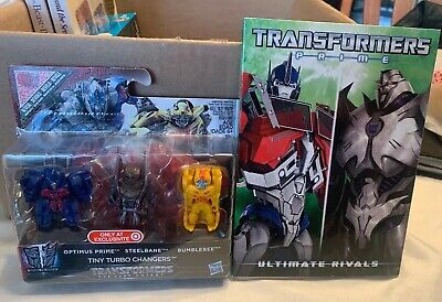 Transformers lot ~ Tiny Turbo Chargers 3 pack & Ultimate Rivals Movie BRAND NEW