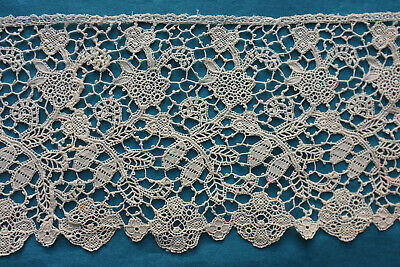 145 cms antique machine Youghal style lace border