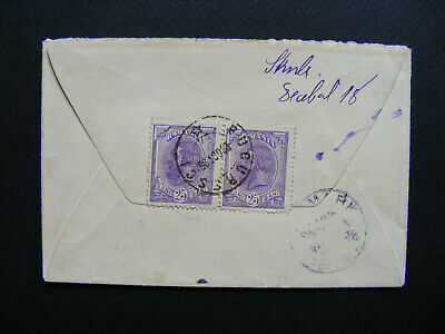 (G37) 1896 Romania Bucure?ci to Germany. R Cover Letter Brief.