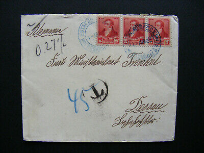(G42) 1900 Argentina Old Cover Letter Brief to Germany Dessau
