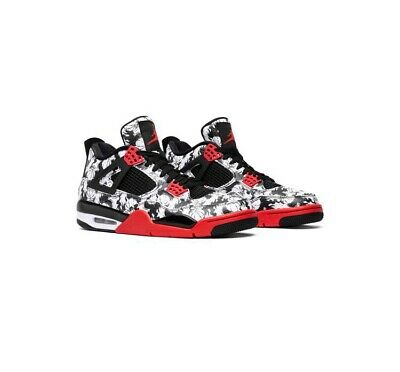 info for 3a7f0 25698 Nike Air Jordan 4 Retro SNGL DY Mens Size 12 Tattoo Singles Day Black Red  White
