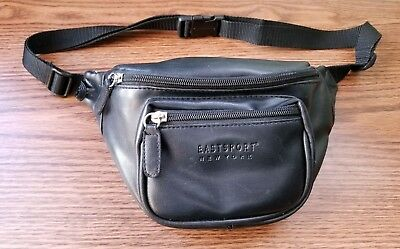 0eb450bb2 VINTAGE EASTSPORT NEW York Faux Leather Fanny Pack Waist Hip Bag - Black -  $9.00 | PicClick