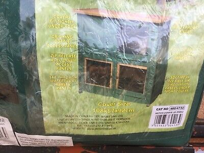 New Small Rabbit Guinea Pig Two Tier Cage Cover. Only Cover.  108 X 57 X 92 Cms