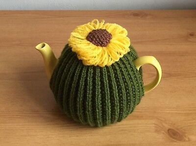 Hand knitted Sunflower tea cosy