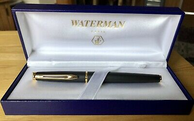 Waterman Hemisphere Fountain Pen Matte Black Medium Nib