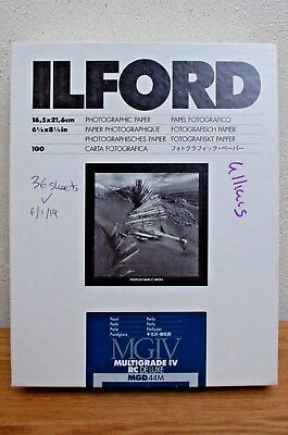 Ilford MGIV RC DE LUXE Pearl- 36 Sheets