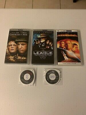 PSP Movie Lot of 5: Armageddon, Redeye, Casualties Of War, League of, Assault On