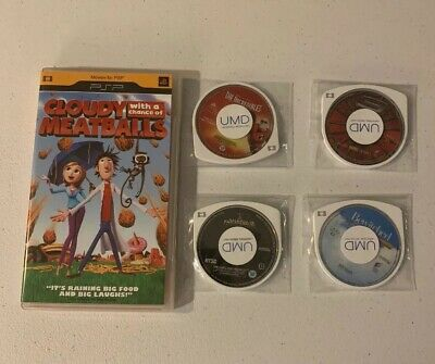 PSP Movie Lot: Spider-Man 3, Incredibles, National Treasure 2, Bewitched, Cloudy