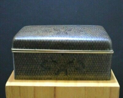 Japanese Inaba Monochrome Black Cloisonne Table Or Cigarette Box