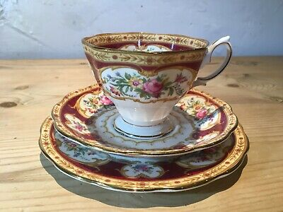 Royal Albert Lady Hamilton Cup, Saucer & Plate Trio. Wonderful. 1st Quality.