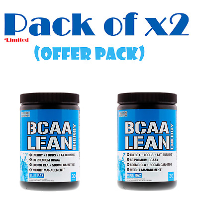 EVLution Nutrition BCAA Lean Energy Blue Raz 11.2 oz (318 g) (Pack of x2)