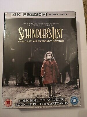 Schindlers list 4k 3 Disc 25th Anniversary Edition, New and Sealed