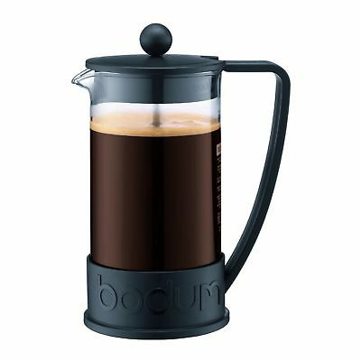 Bodum 8 Cup French Press Coffee Maker Permanent Filter Black Excellent Condition
