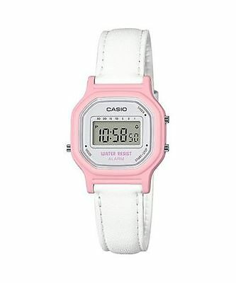 Casio LA11WL-4A,  Women's Digital White Leather Watch, Alarm, Chronograph