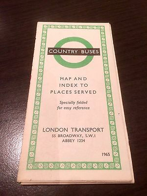 London Transport - Country Buses - Map - Edition 1965