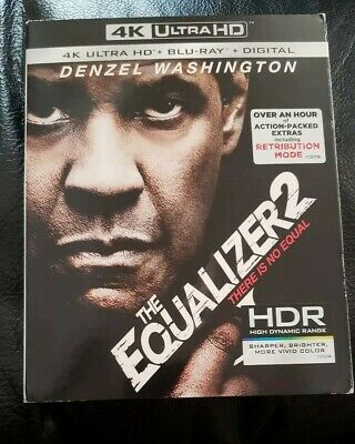 The Equalizer 2 4K Ultra Hd Blu Ray 2 Disc Set + Slipcover Sleeve Free Shipping