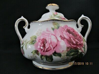 Royal Albert American Beauty Covered Sugar Bowl With Lid 1941