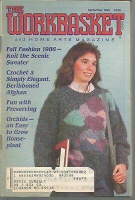 Workbasket Magazine - September 1986 - Knit, Crochet, Gardening and Other Crafts