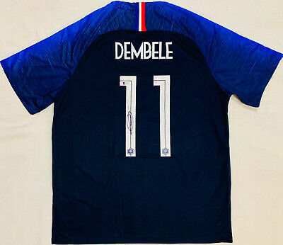 615c71dac France Ousmane Dembele Signed Soccer Jersey - Auto Beckett BAS World Cup  Champs