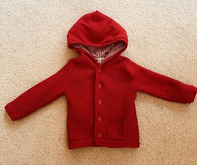 Purebaby Red Hooded Winter Jacket Size 2 (18-24 Months)
