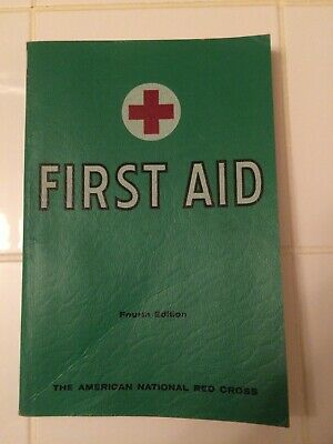 First Aid Textbook 1957 VTG - American National Red Cross - Fourth ed - PB ++