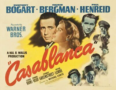 16mm Feature Film: CASABLANCA (1942) Humphrey Bogart, Ingrid Bergman - EXCELLENT