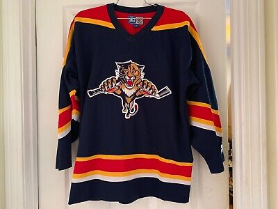 FLORIDA PANTHERS VINTAGE LATE 1990s ALTERNATE HOCKEY JERSEY FANTASTIC CONDITION!