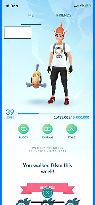 Pokemon Go Account Level 39 | Blue Team | Epic Raid Account | Gmail | Handmade!
