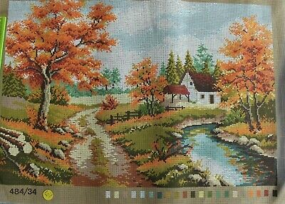 Tapestry Canvas 'Autumn Cottage' 484/34
